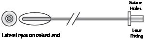 "Tomcat Catheter, Open End  3.5fr x 5"""