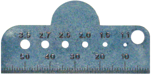 Bone Screw and Drill Bit Gauge