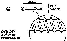 2.7mm Self Tapping Screws  19mm