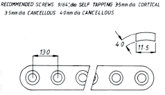3.5mm Heavy-Duty Round-Hole Plate  195mm