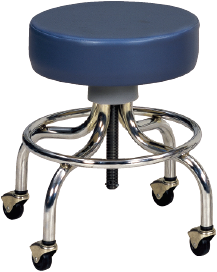 Chrome-Base Stool, Black