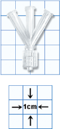 W' or Wye Fluid Line Connector, Sterile