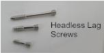 Headless Lag Screw, 2mm X 10mm