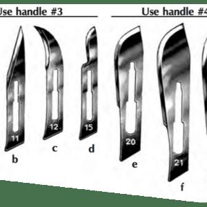 Sterile Swann-Morton Scalpel Blades, #22