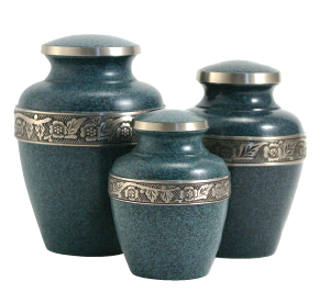 Avalon Evening Blue Urn, Large