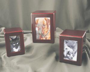 Cherry Finish Wood Photo Box,  Medium