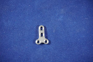 T Plate, 2.0mm, 4-hole, 18mm