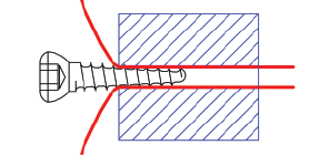 LigaFiba Iso Toggle Locking Interference Screw, Titanium, 4.5mm