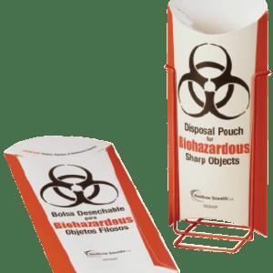 Biohazardous Disposal Pouch, Stand