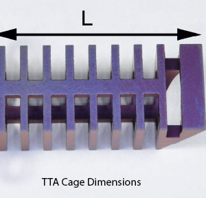 TTA Cage, Stainless, 12 x 28mm
