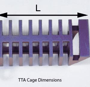 TTA Cage, Titanium, 10.5 x 25mm